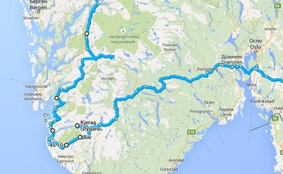 маршрут в Норвегии на автомобиле