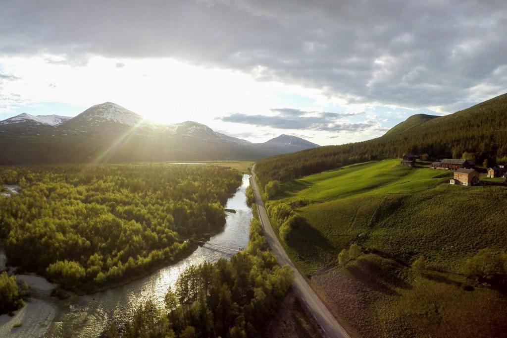 Дорога Rondevegen в парке Rondane